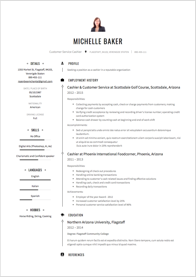 Cashier Resume Sample Writing Suggestions Resumeviking Com
