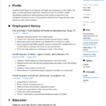 Forklift Operator Resume Template