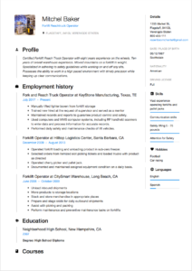 Example Reverse Chronological Resume Format