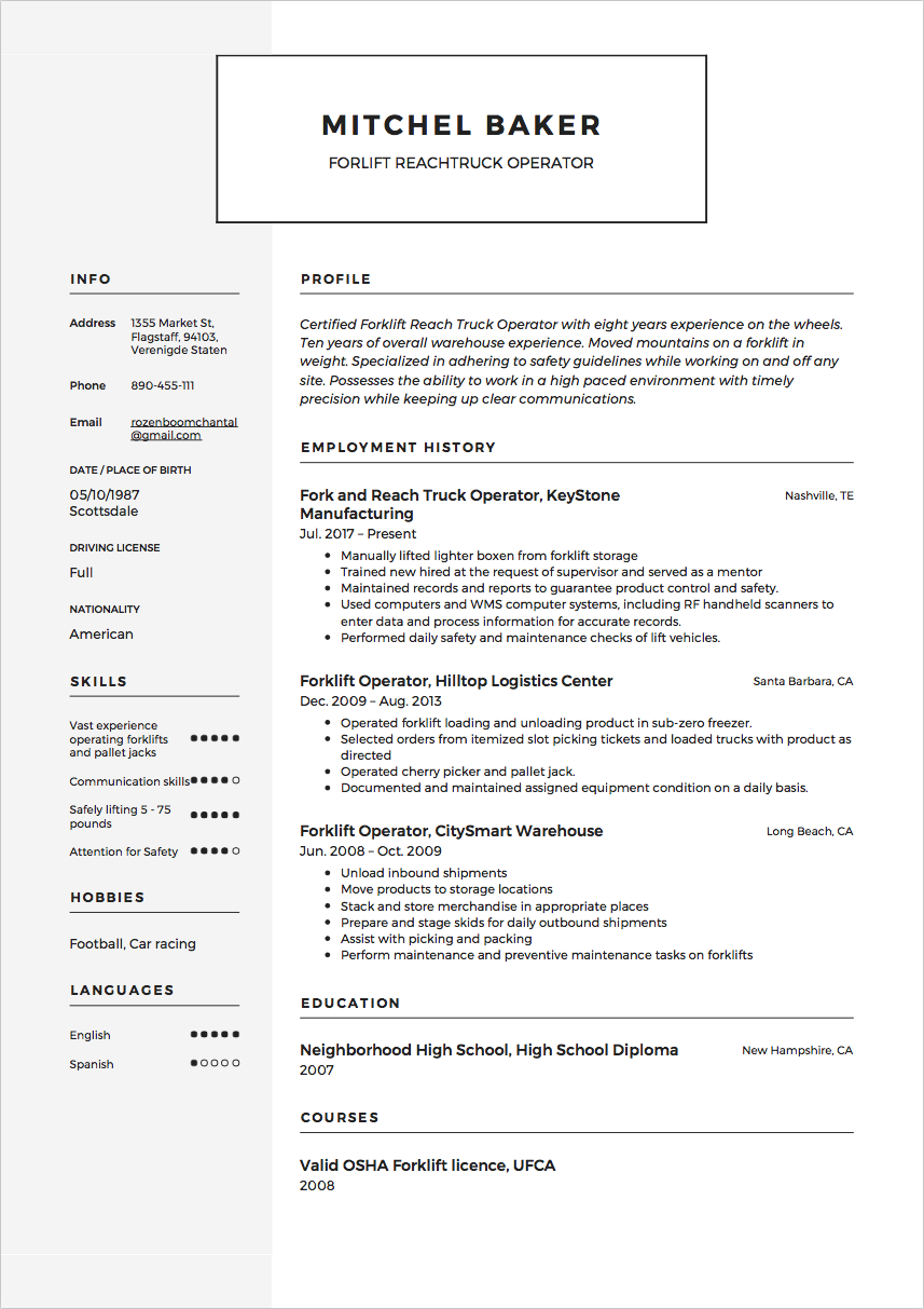 resume How To Put Forklift Certification On Resume how to customize your resume skills section resumeviking resumes from the app