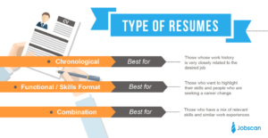 resume format overview