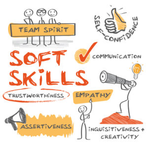 cartoon of different soft skills