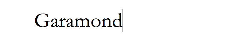 Garamond Font Sample