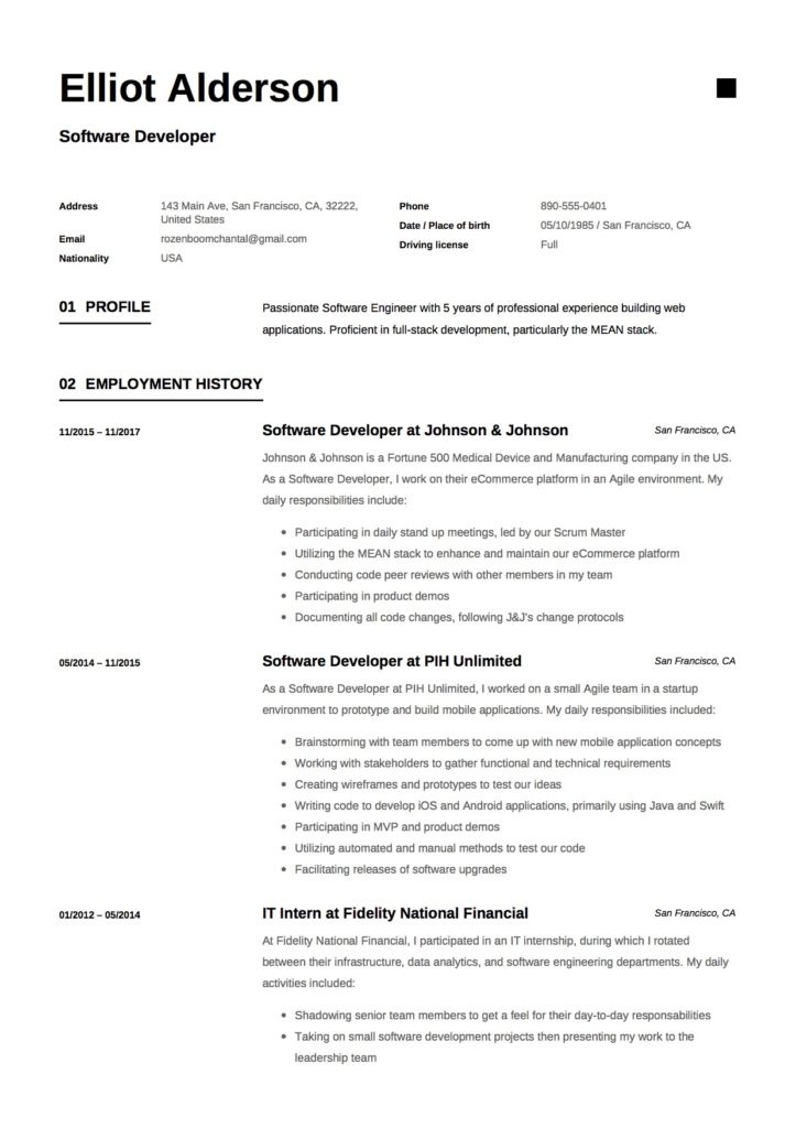 Resume - Software Developer (10)
