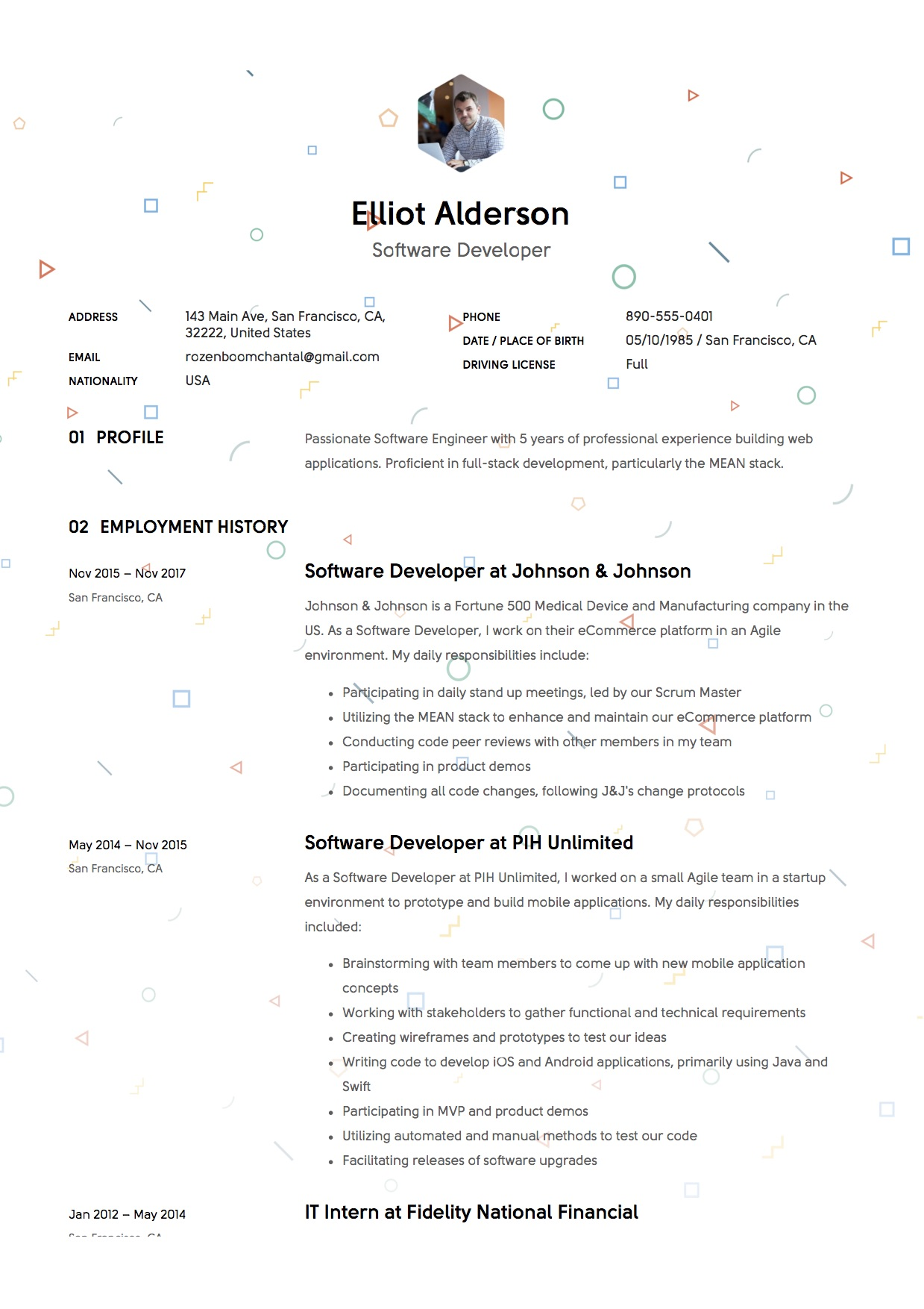 Resume - Software Developer (7)