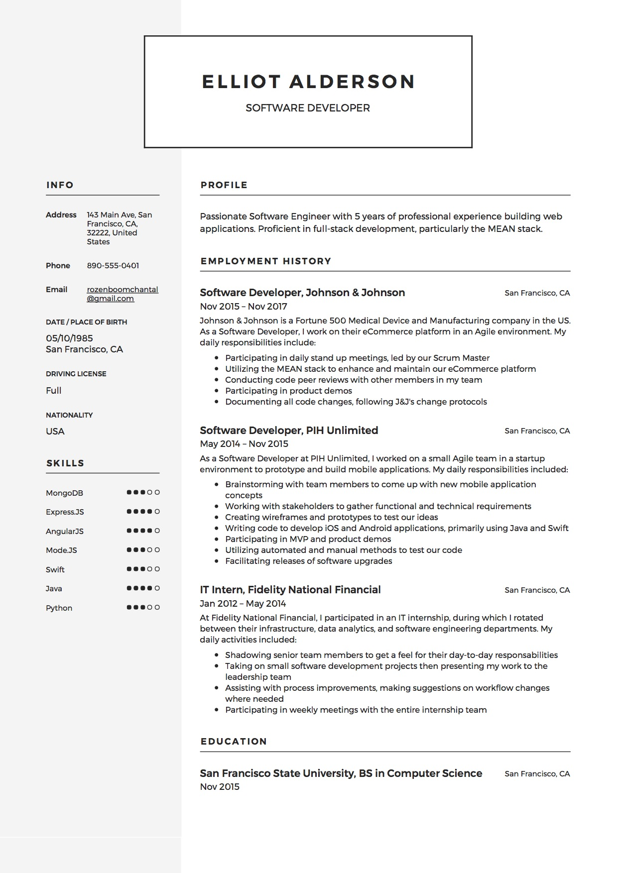 Software Developer Resume(4)