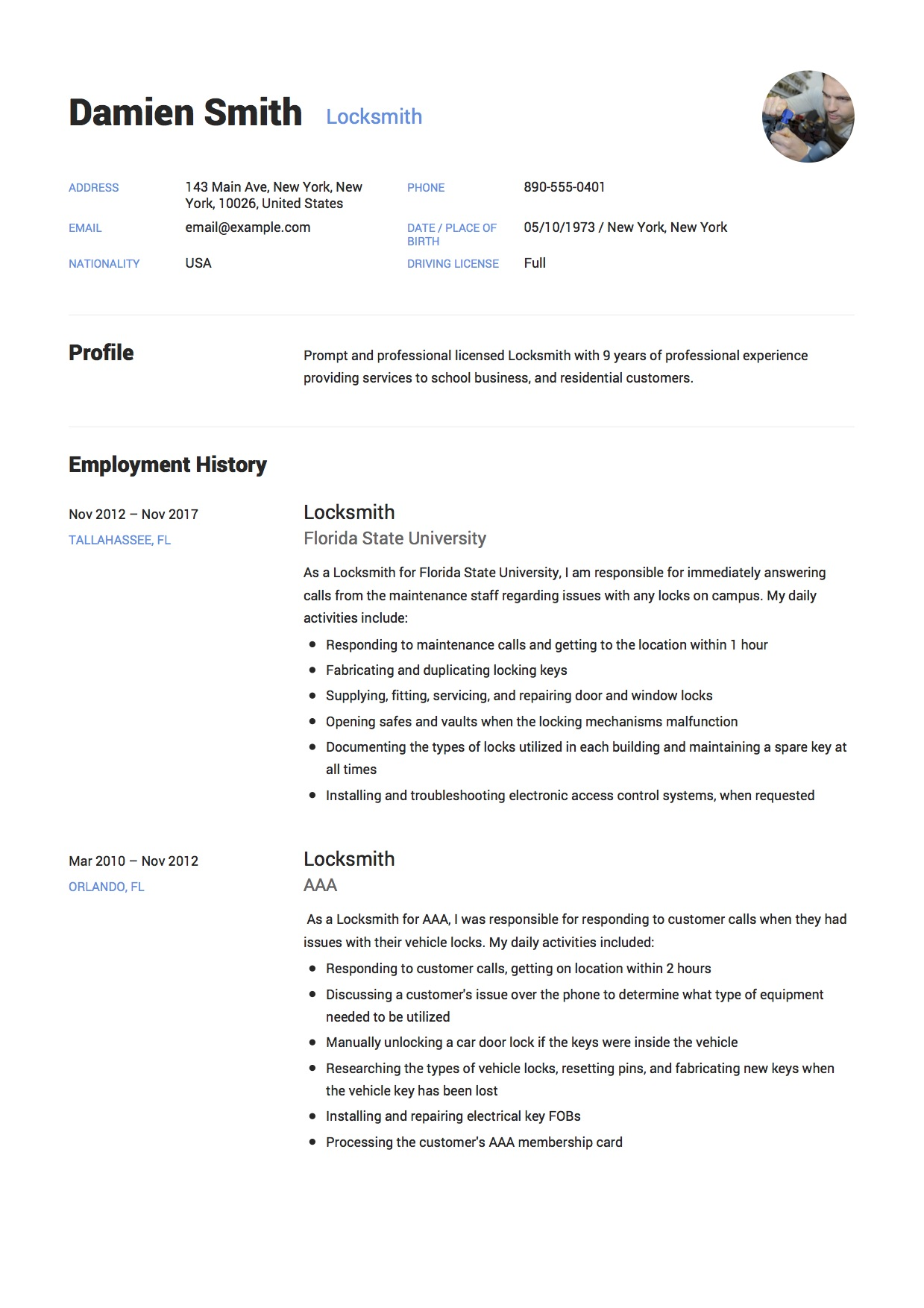 Damien Smith - Resume - Locksmith-11