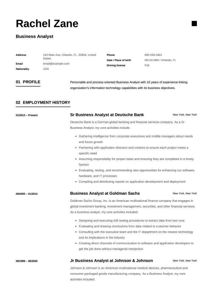 Rachel Zane - Resume - Business Analyst (10)
