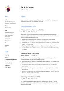 Resume Sample Commercial Painter