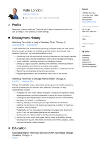 Guide  Veterinary Technician Resume   12 Samples     PDF