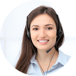 Technical Phone Support Employee girl round
