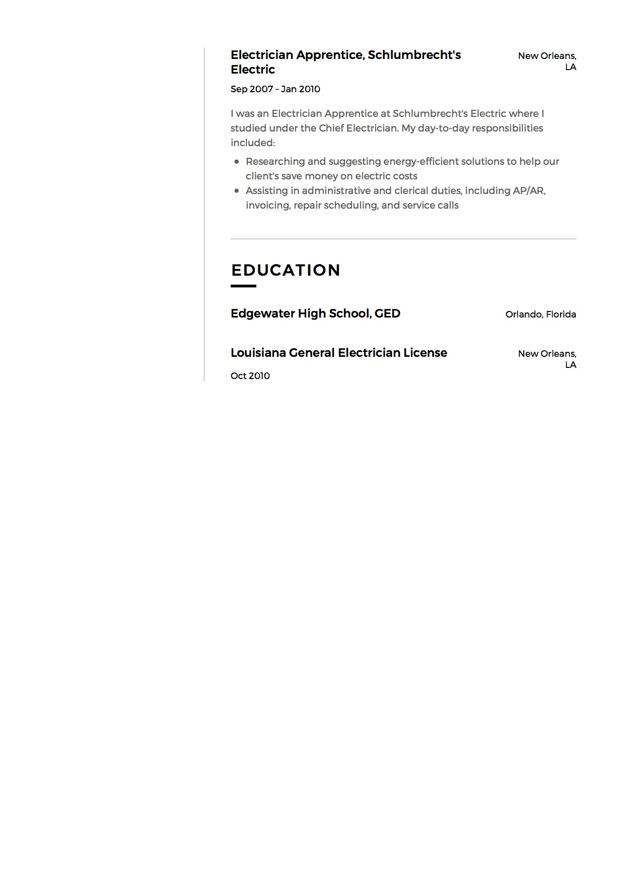 12 electrician resume sample s