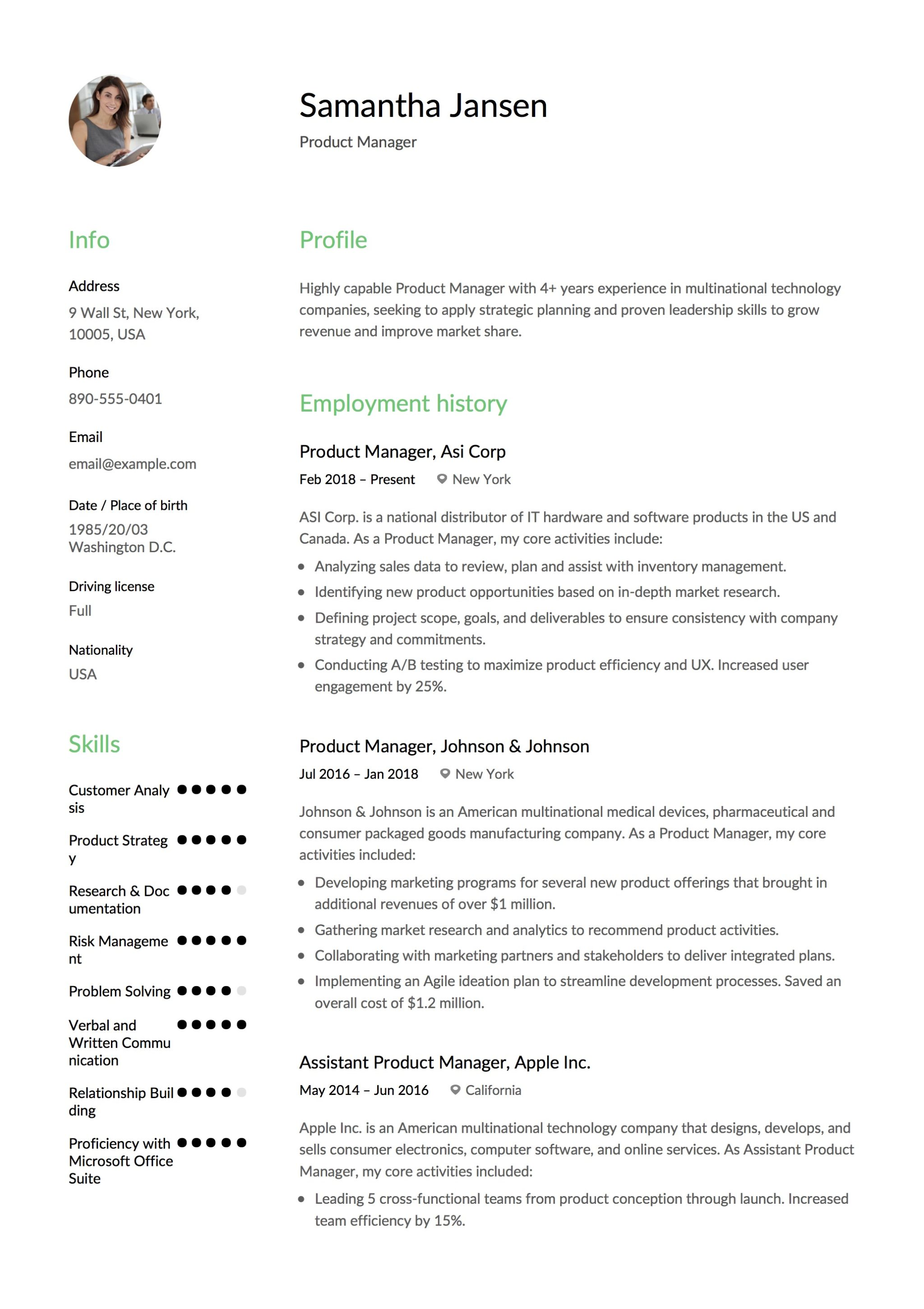 best photos of production manager resume sample