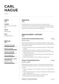 Carl Hague Janitor Resume