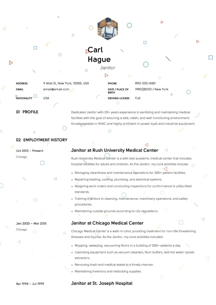 Full Guide Janitor Resume Example 12 Samples