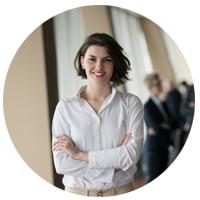 Event planner resume photo round women
