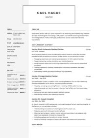 Janitor Resume Template