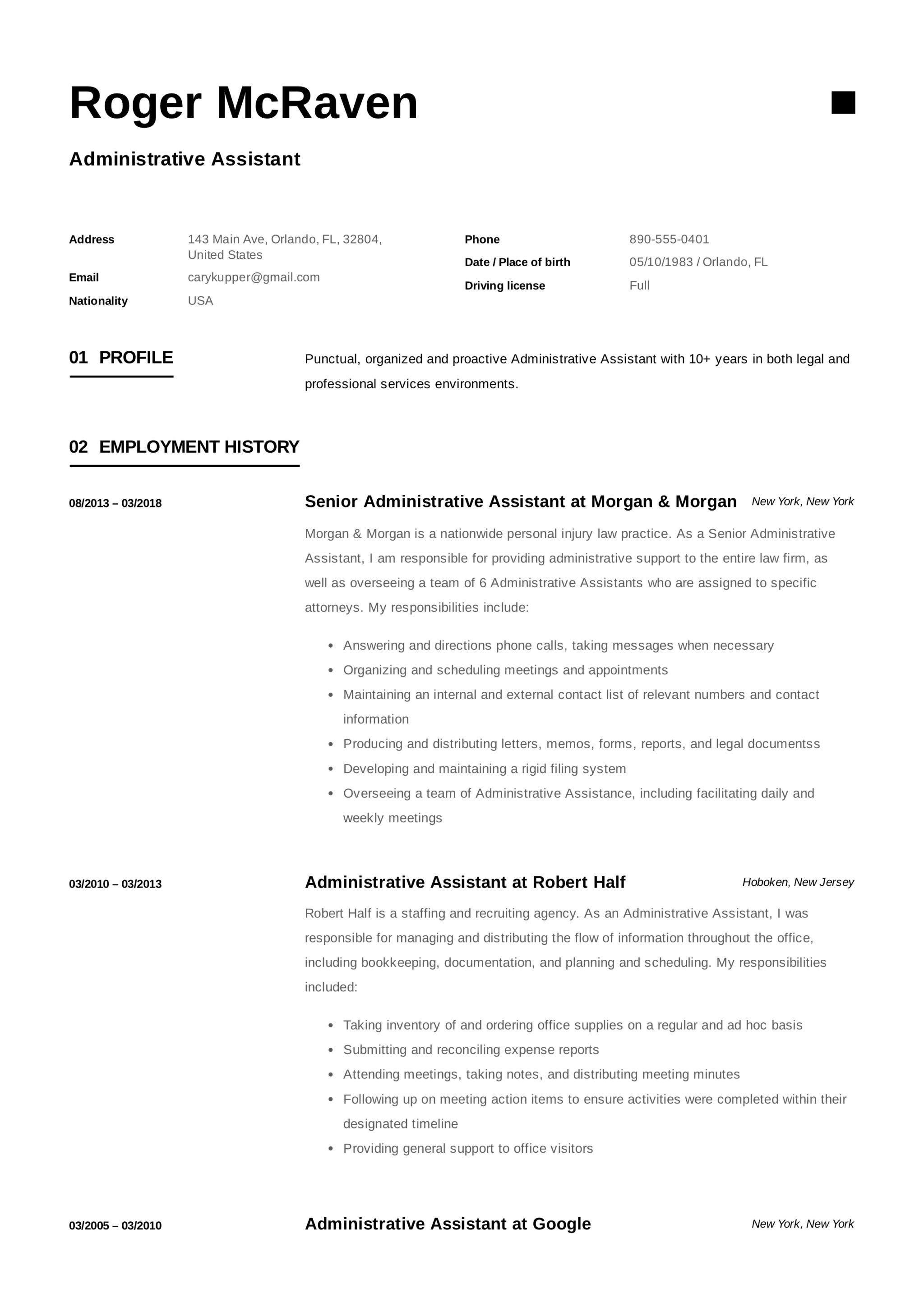 Resume-Example-Administrative-istant Sample Administrative Istant Resume Format on medical office, clerical office, assistant highlight,
