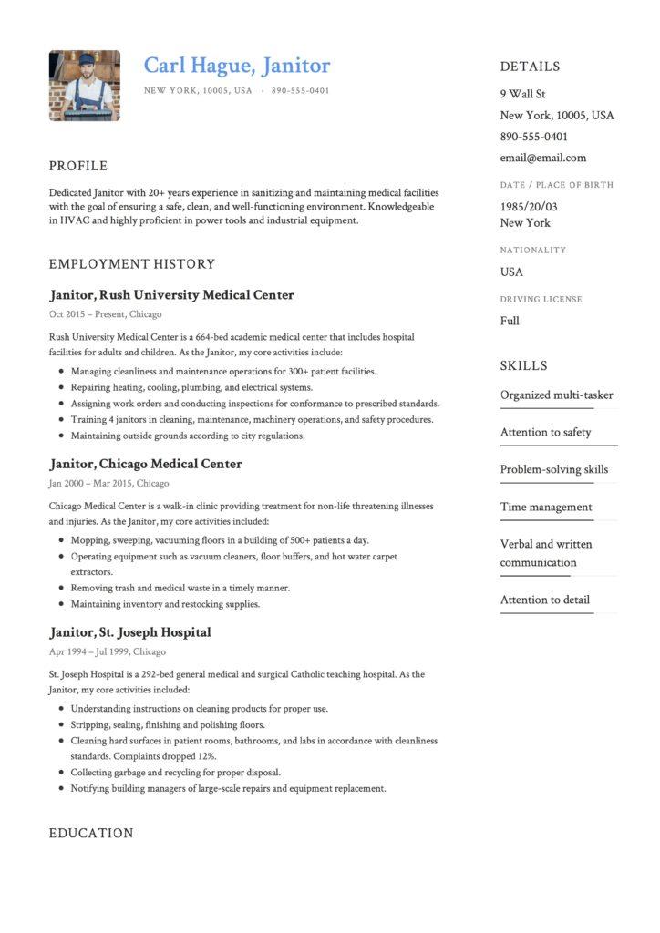 Resume Janitor