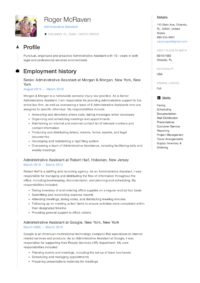 Resume Sample Administrative Assistant