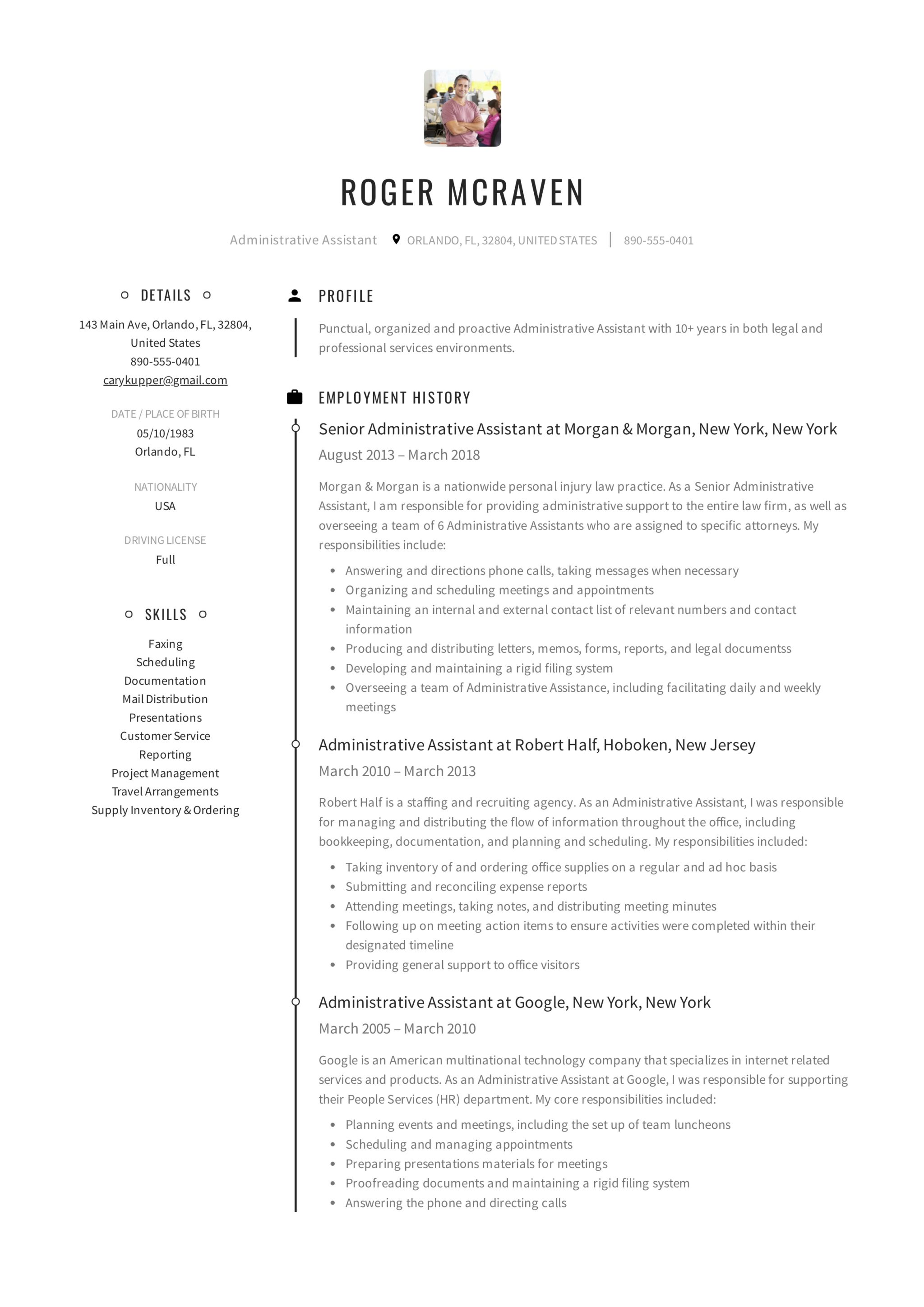 12 Administrative Assistant Resume Samples - 2018 (Free Downloads)