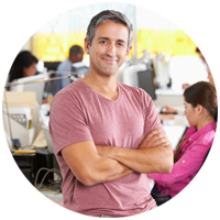Office Manager Resume Sample Photo Man Smiling to camera