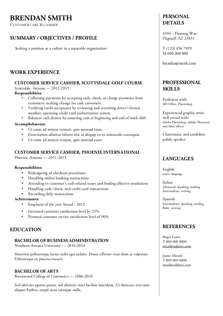 Resume Templates Resumeviking Com