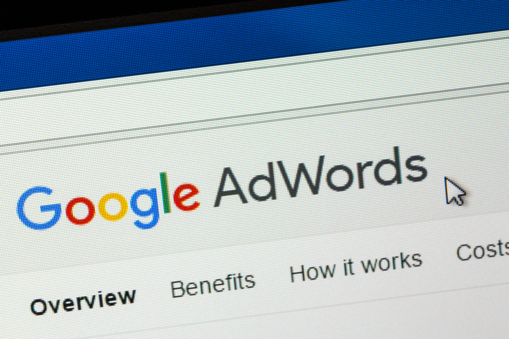 Goolge Adwords image of its website