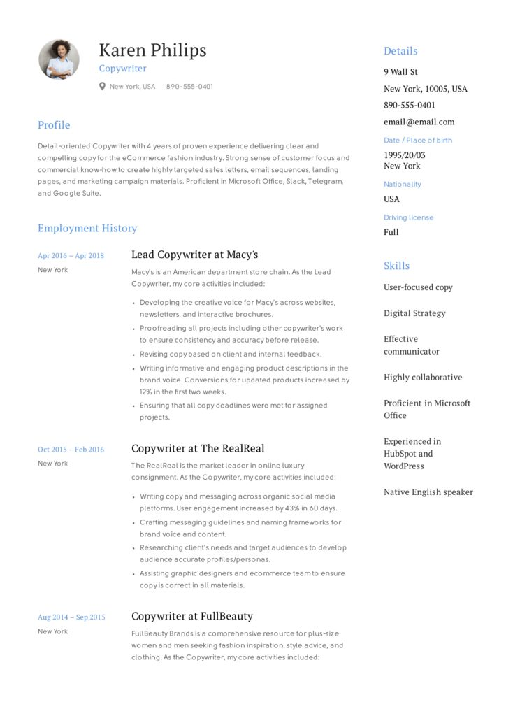 Karen Philips Resume Copywriter (6)