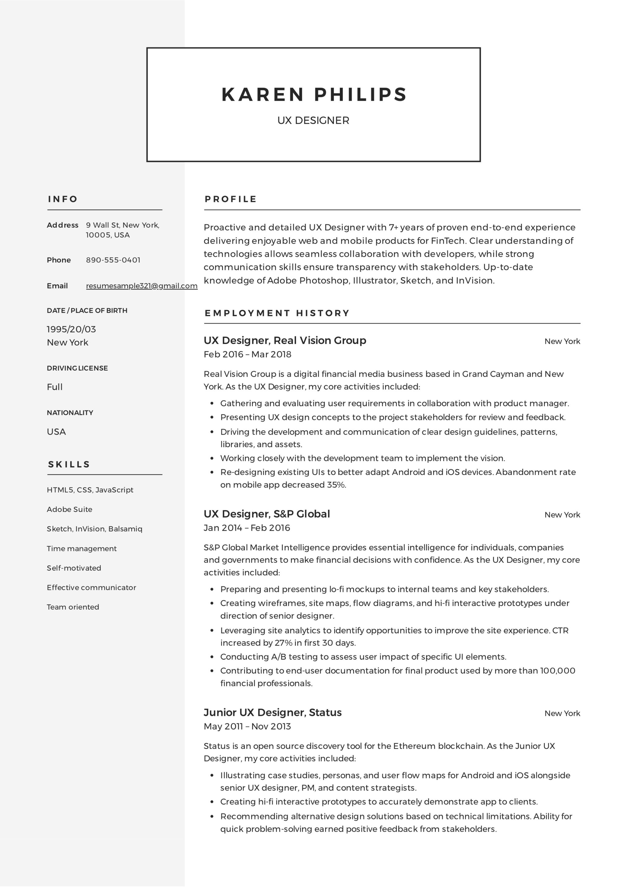 UX Designer Resume Sample - Karen Philips (4)