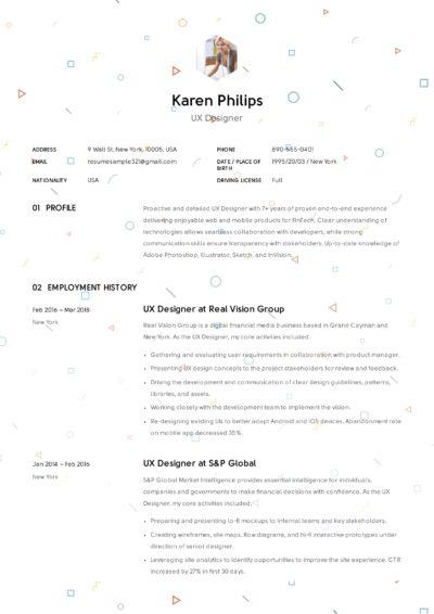 12 UX Designer Resume Sample (s) | Resumeviking com | 2019 Designs