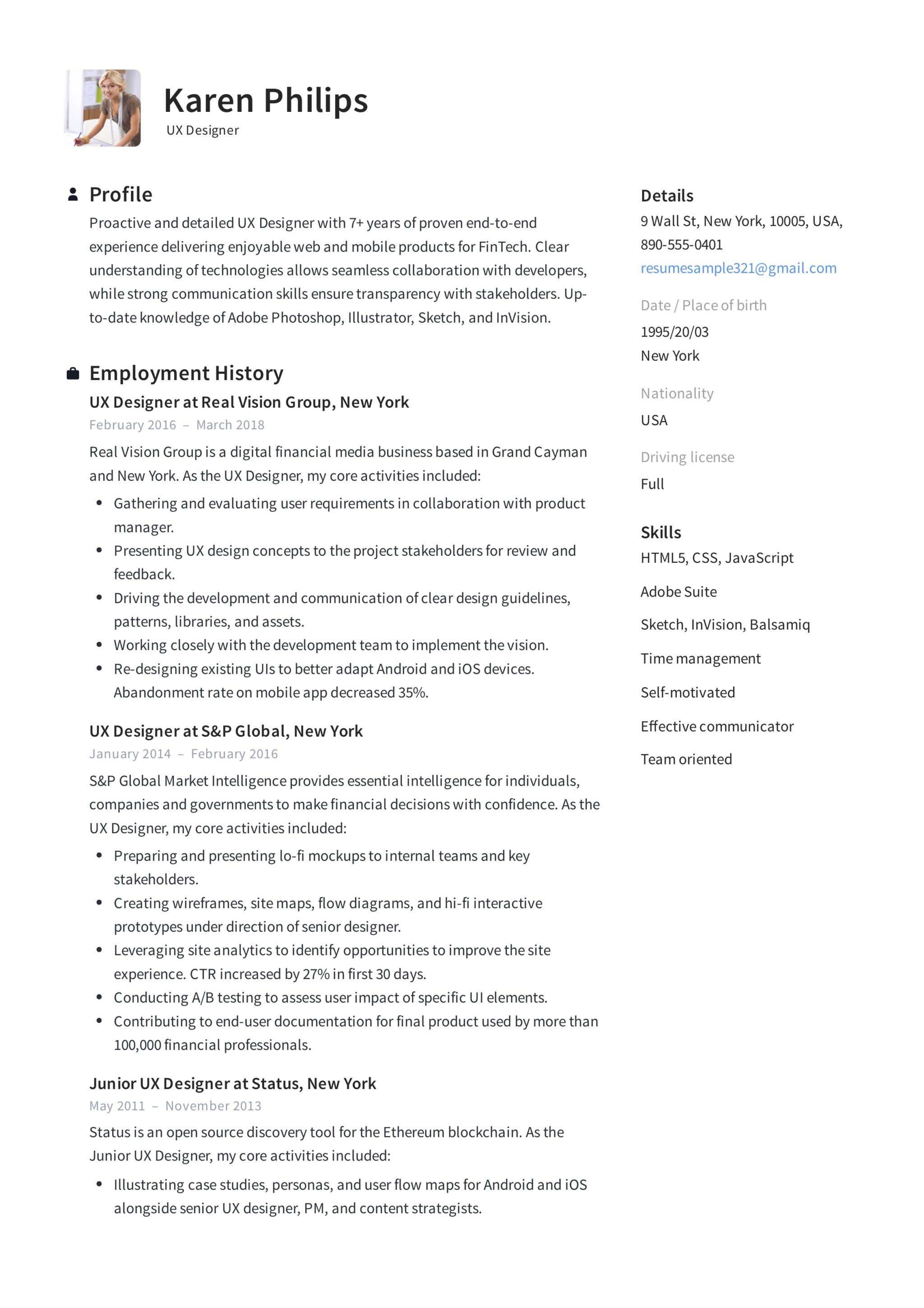 12 Ux Designer Resume Sample S Resumeviking Com 2019