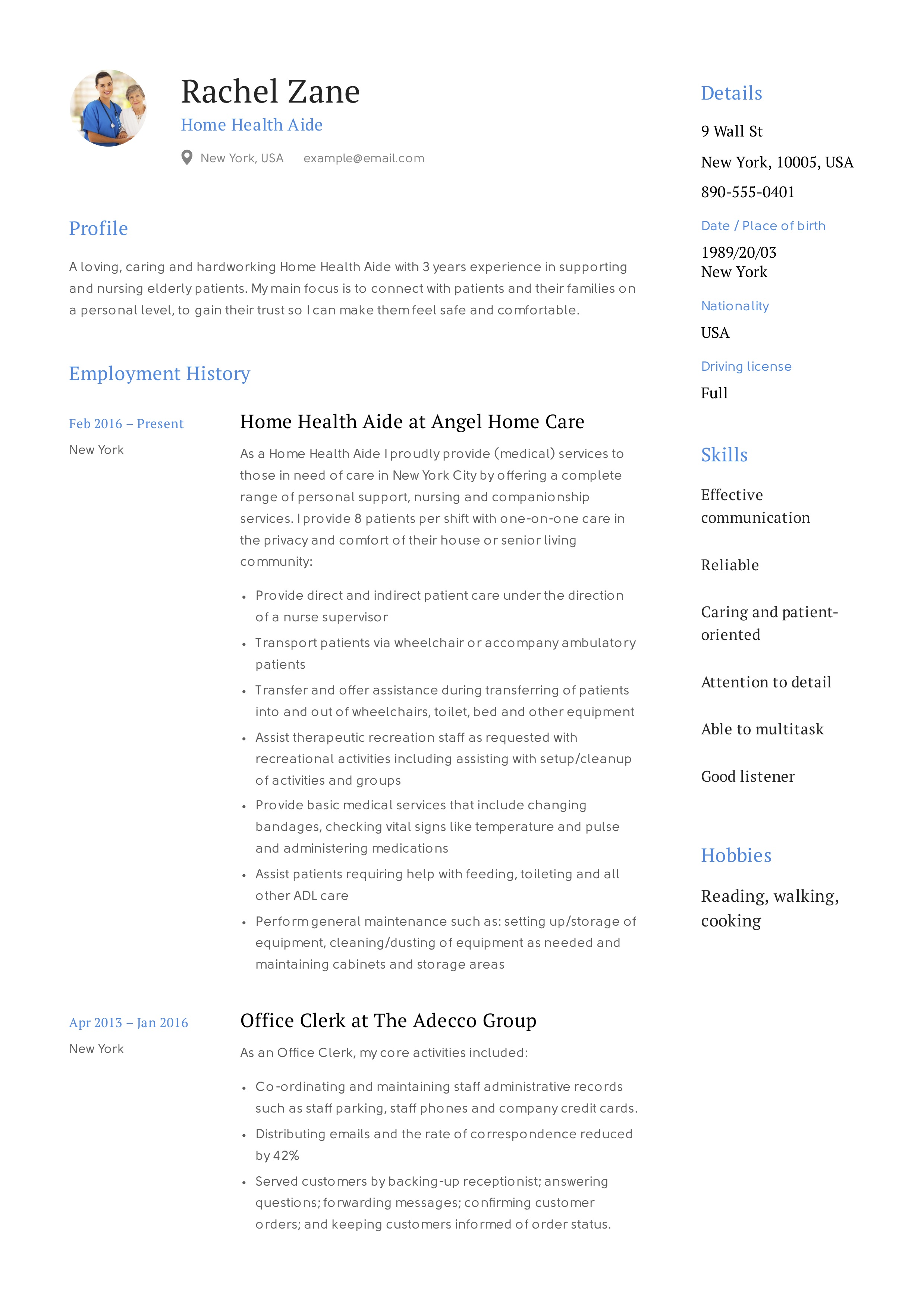 home health aide resume sample  u0026 writing guide
