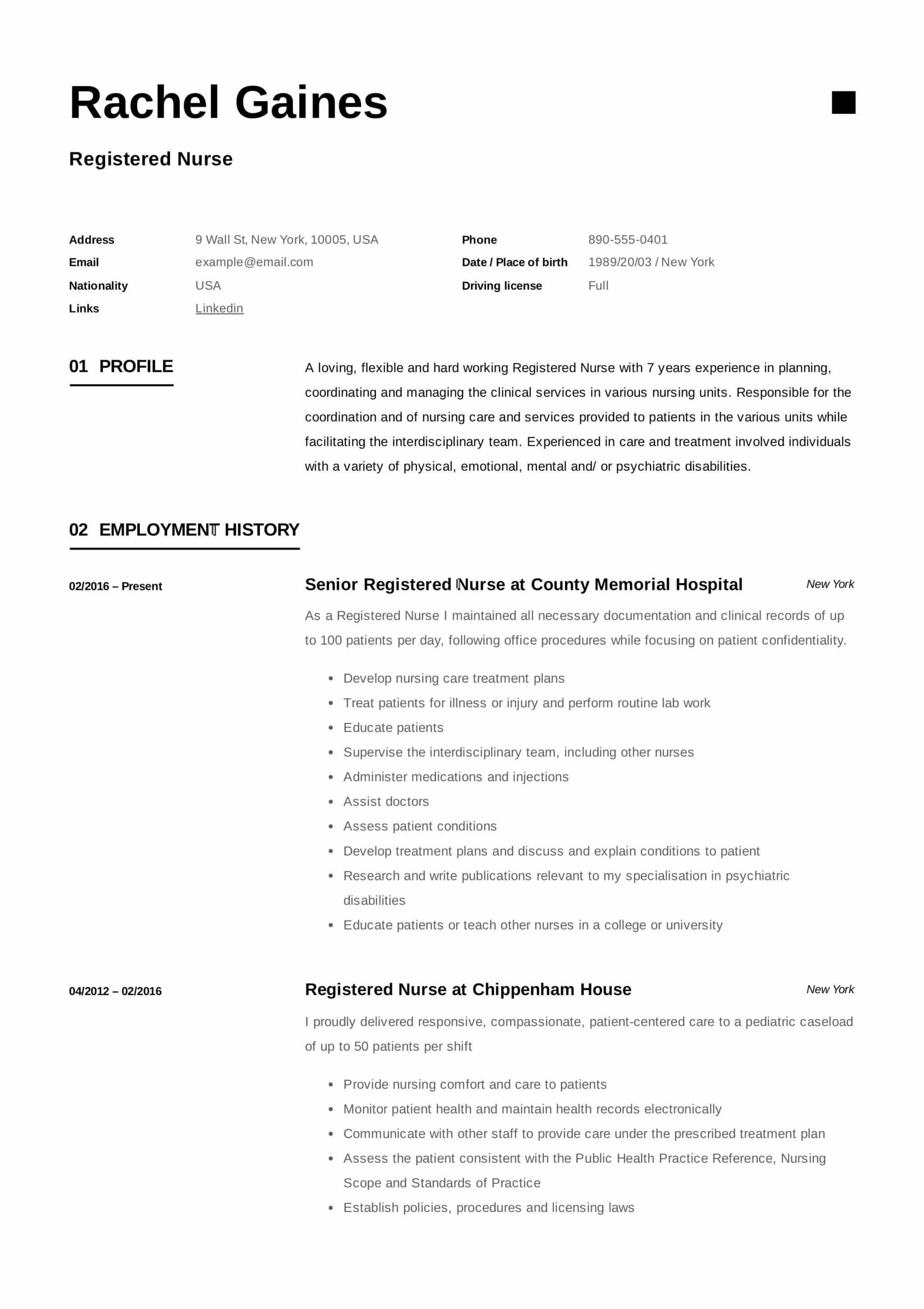 Registered Nurse Resume Sample & Writing Guide | +12 Samples | PDF |