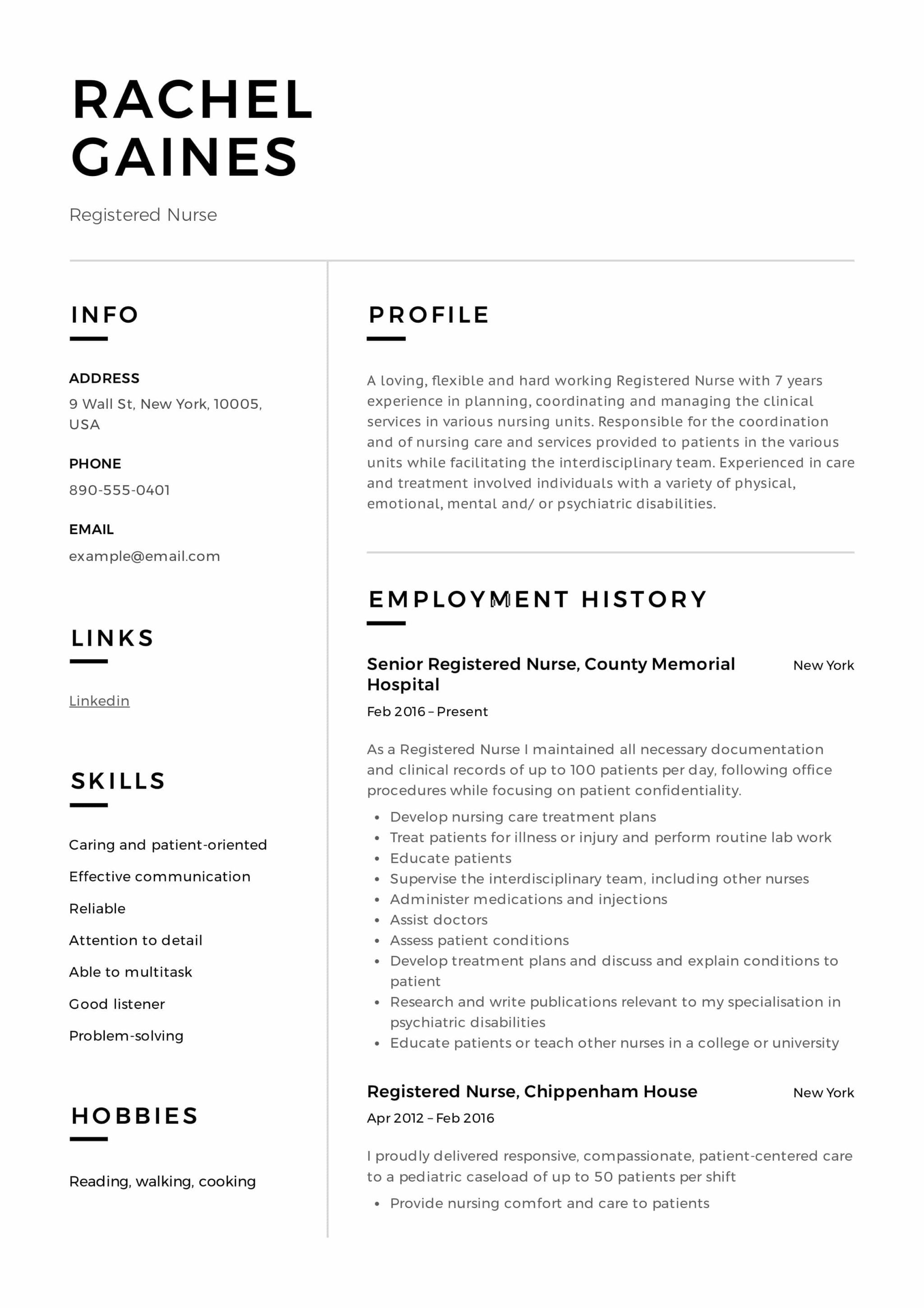 Registered Nurse Resume Sample Amp Writing Guide 12