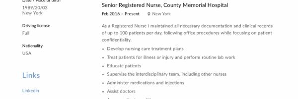 Registered Nurse Resume Sample Writing Guide 12 Samples