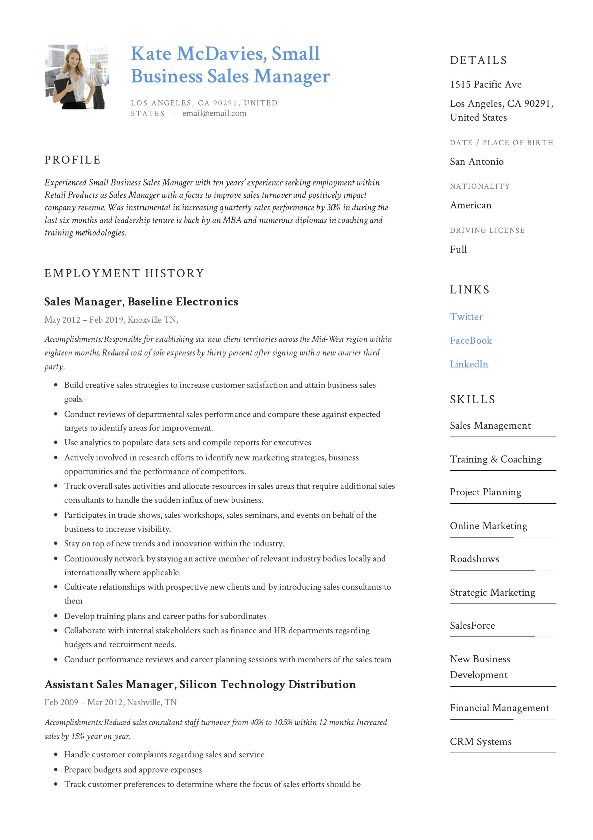 Business Resume Example 2019 58