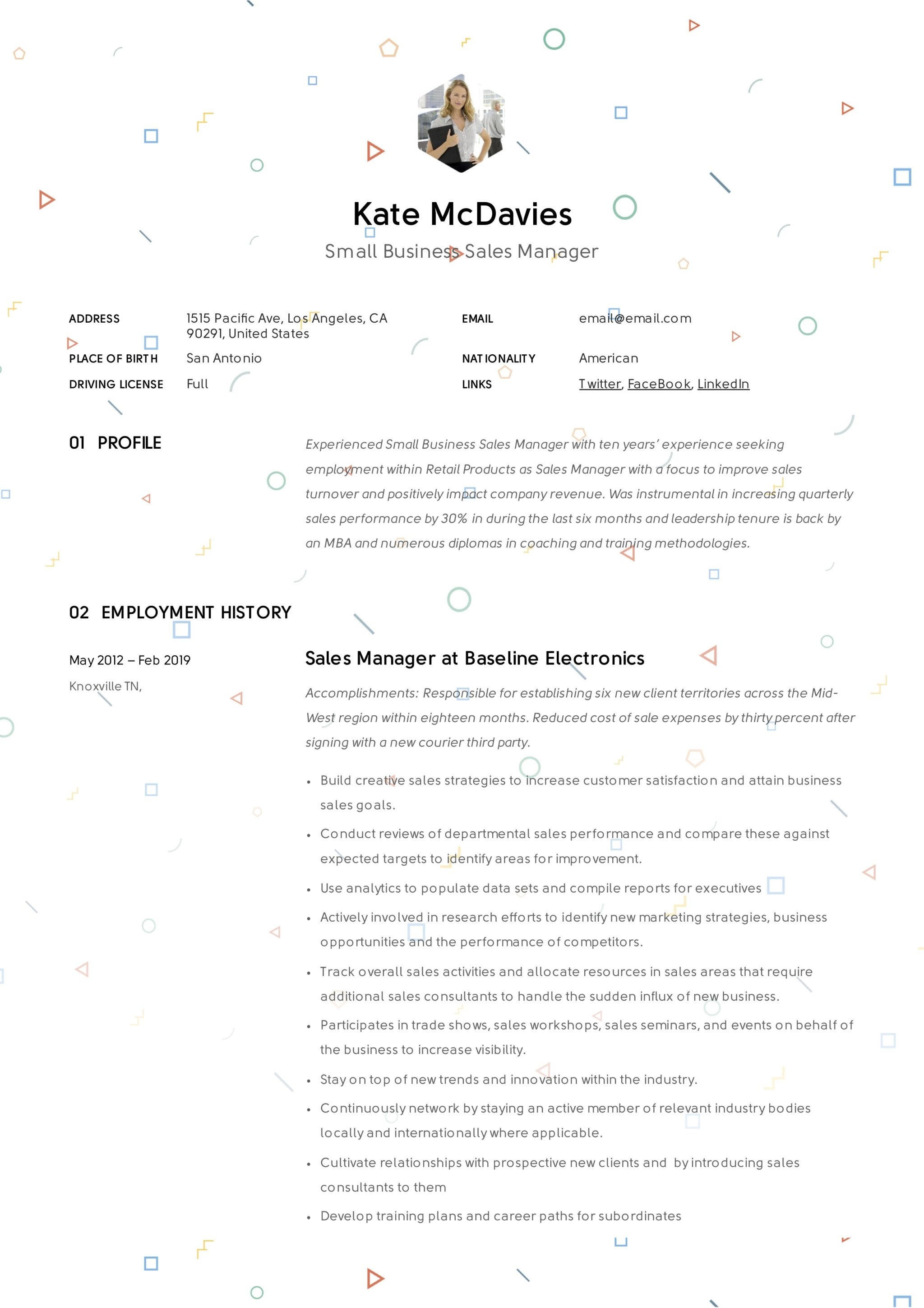 Small Business Sales Manager Resume Example (7)