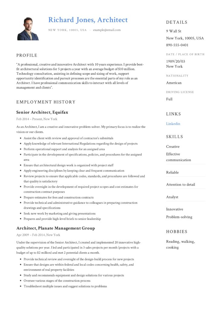 architect resume  u0026 writing guide