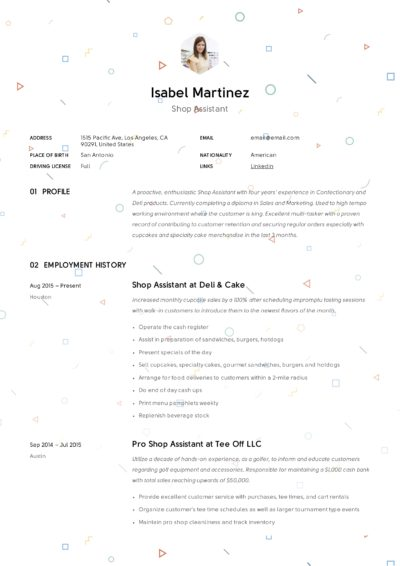 shop assistant resume example  u0026 writing guide