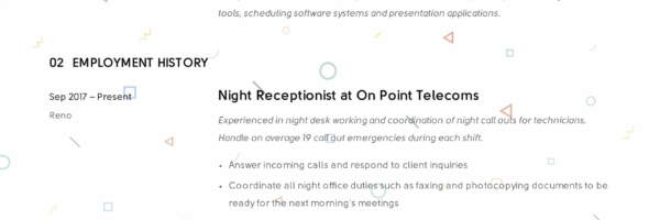 Receptionist Resume Example & Writing Guide | 12 Samples