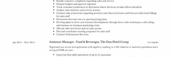 Resume Design Assistant Manager