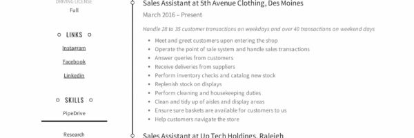 Sales Assistant Resume Writing Guide Resumeviking Com