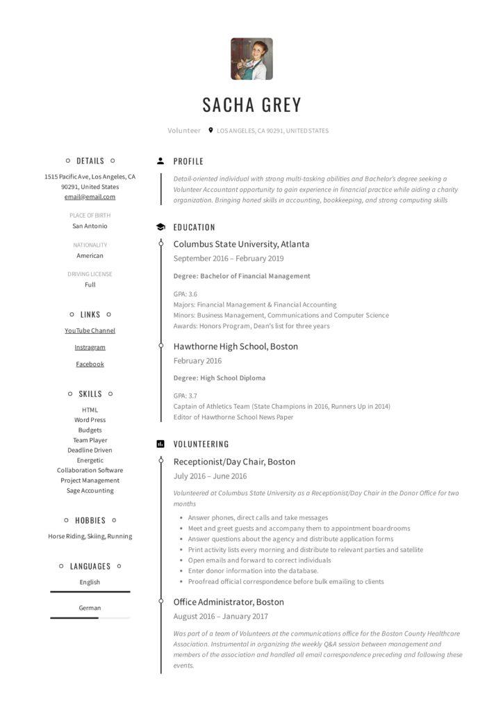 volunteer resume sample  u0026 writing guide
