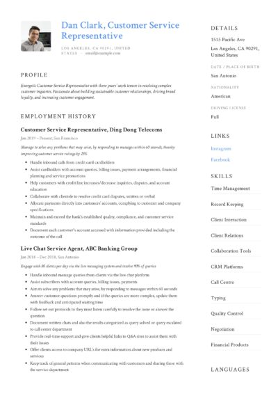 how to  customer service representative resume  u0026   12 pdf
