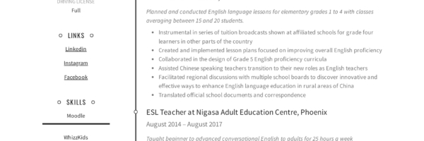 ESL Teacher Resume Sample & Writing Guide | Resumeviking.com