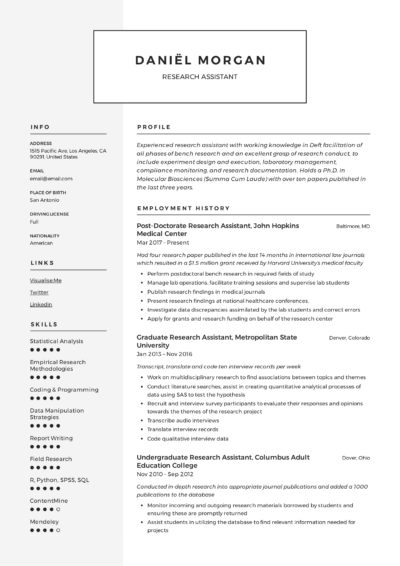 Modern Resume Research Assistant