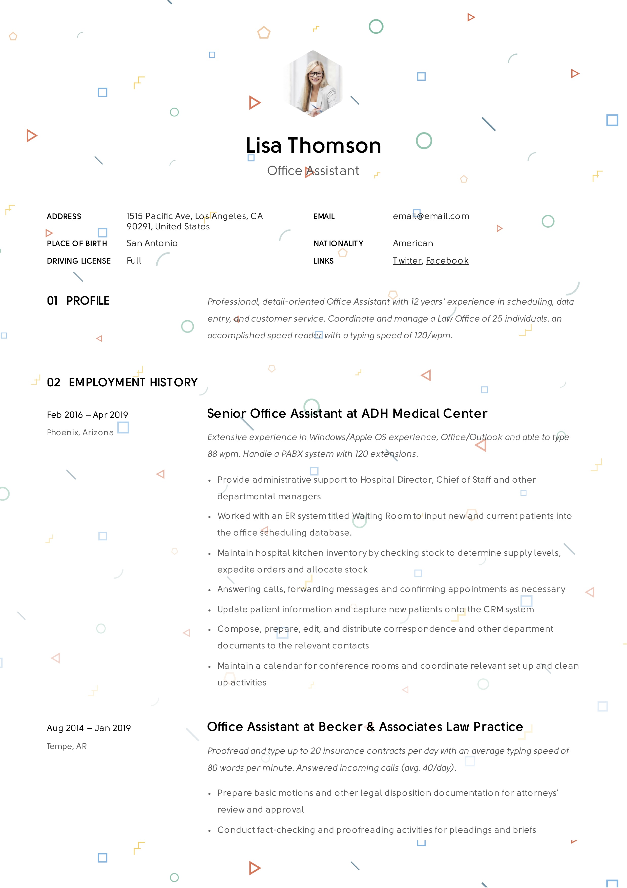 Office Assistant Resume  Writing