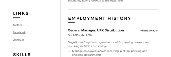 General Manager Resume Writing Guide 12 Resume Examples