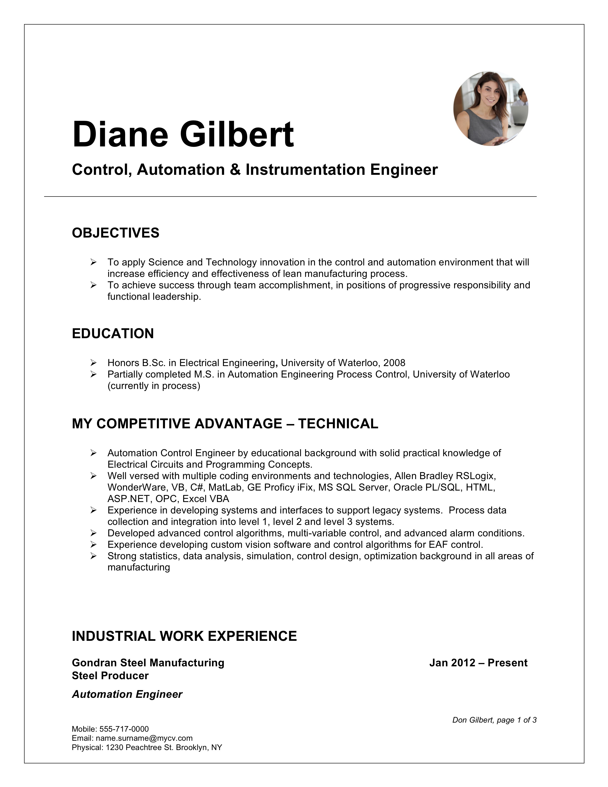Resume Templates 2019 Pdf And Word Free Downloads